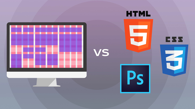 Макетная сетка: колонки против Photoshop, HTML и CSS